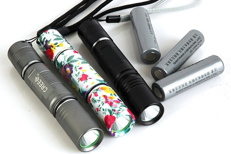 CREE Q5 high power rechargeable flashlight torch camouflage torch