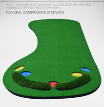 Golf green Factory golf practice portable suit outdoor and indoor bigFoot shape golf putting green 300 cm x 90 cm