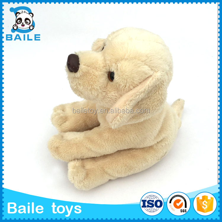 Sitting stuffed Plush Toy dog with Scarf OEM Gift