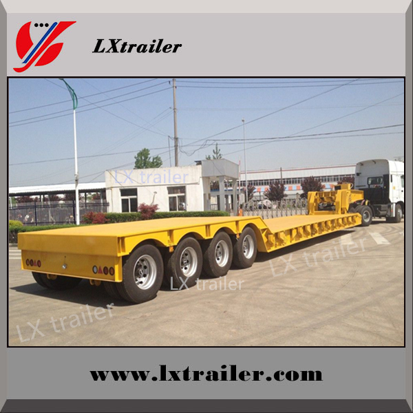 100-200 ton heavy duty equipment transport lowboy / low bed semi trailer