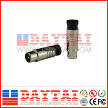 Brass with Nickel Plating CATV Compression Connector, 0-1000MHz Bandwidth CATV Compression Connector