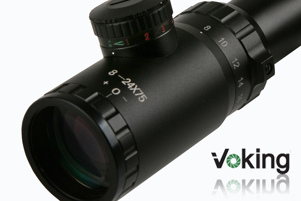 Voking/OEM 8-24X75IR riflescope with illuminated reticle ant 30mm tube China wholesale rifle scope