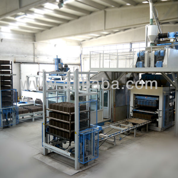 High productivity, full automatic, hydraulic concrete brick machine