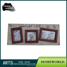 New arrival pretty 3 ornamental opening MDF wall mounted family photo frame