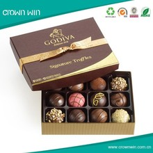 Promotional Cheap Rigid Paper Chocolate Box With Divider