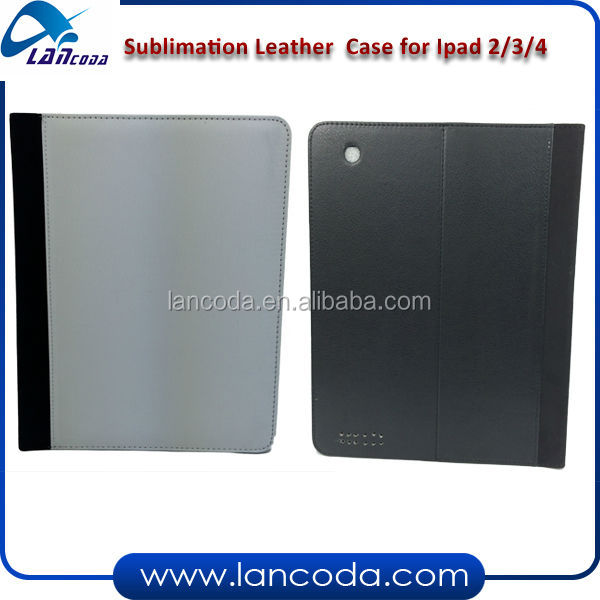 sublimation leather phone cover for ipad2/3/4,pu leather phone case