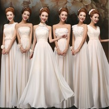 Fashion style long appliqued prom ball gown chiffon women wedding bridesmaid dresses