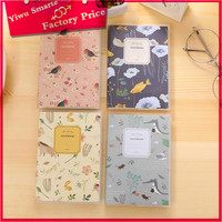 Cheapest school Notebooks Writing Pads cover designs eco friendly flower printed paper notebook imported from china