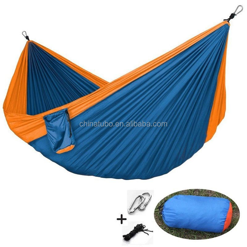 Portable Nylon Parachute Outdoor Camping Travel Double Hammock For 2 Person