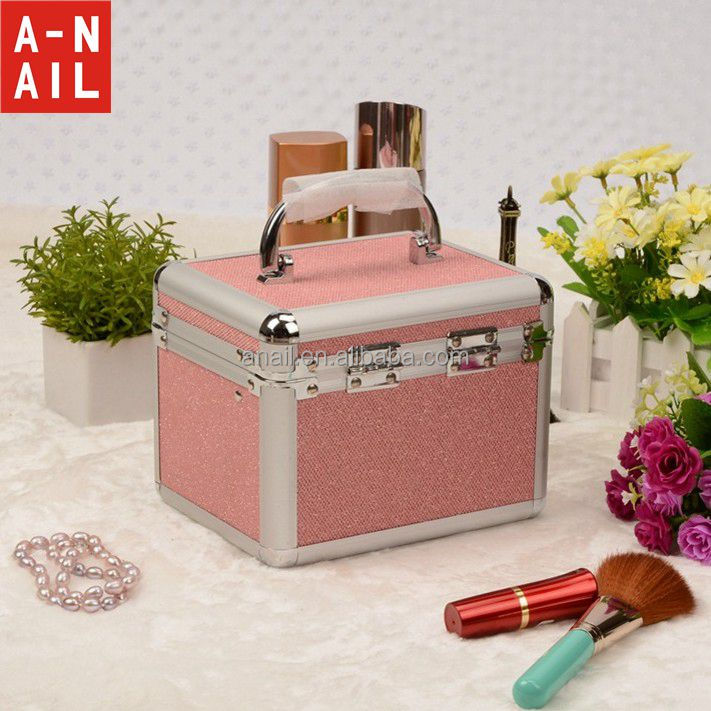 2016 Promotional antique professional beauty custom fashion aluminum cosmetic case for cosmetics