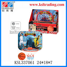 plastic toy basketball set with basketball board