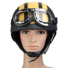 LEYI Motorcycle Motor Open Face Helmet + Visor + Goggles + Scarf