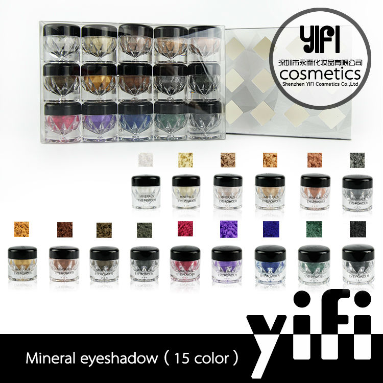 2014 new hot selling wholesale natural 15color full color eyeshadow minieral