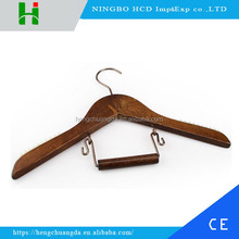 Multifunctional antiqued wooden hangers for kids with laser logo
