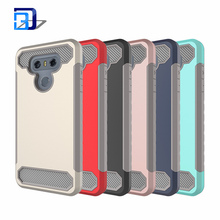 2017 Shock-Absorption&Anti-Scratch Hybrid Dual-Layer Slim Soft TPU Bumper&Hard Shell Solid PC Back Cover Case For LG G6