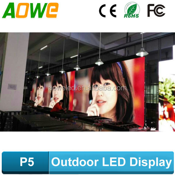 pitch 5mm outdoor full color led displays p5 LED SMD RGB