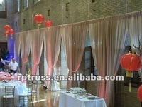 Hot! event wedding aluminum backdrop stand pipe drape/easy setup portable pipe and drape system for outdoor event show