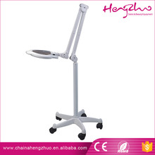 Wholesalers Portable Floor Stand LED Magnifying Lamp With 5-Star Wheel