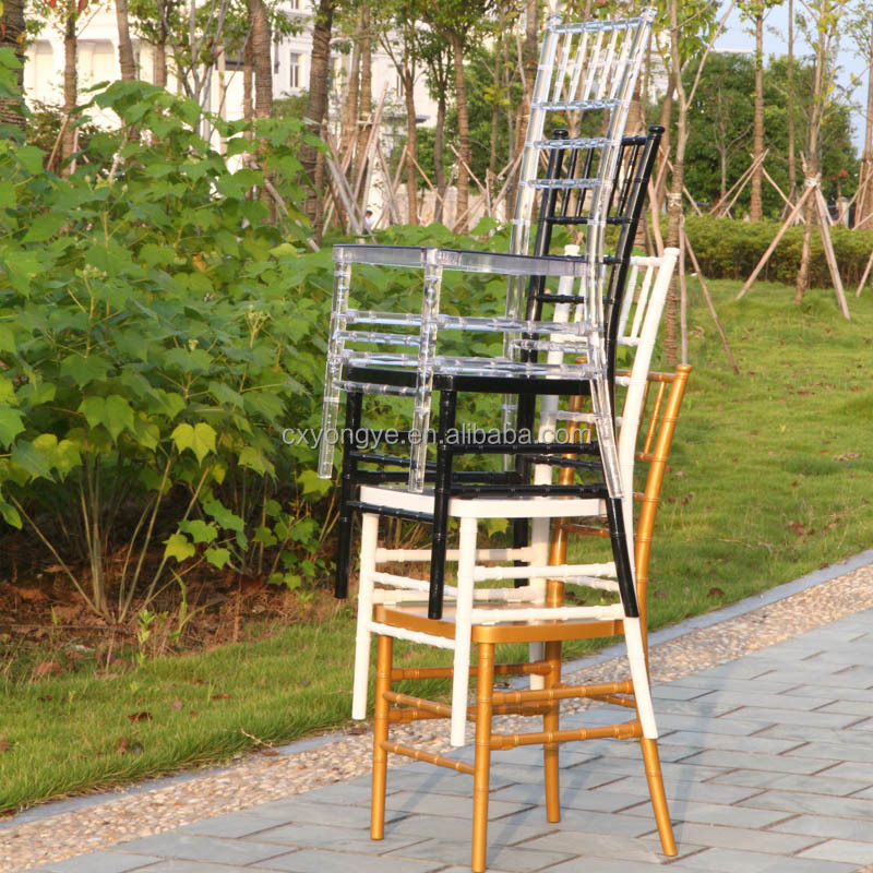 Steel core chiavari chair