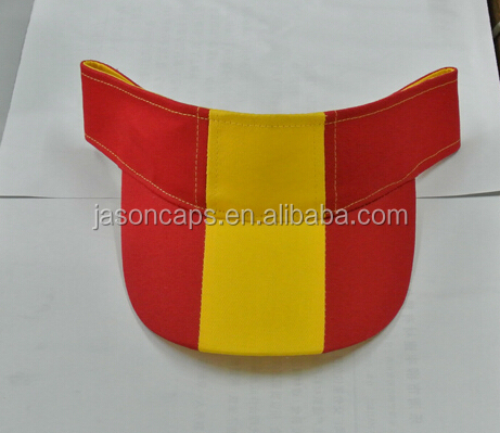 promotional cheap price plain color sun visor