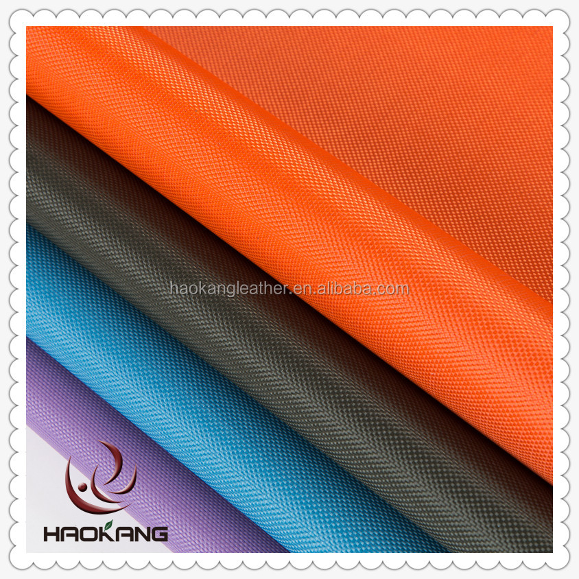 840D polyester oxford waterproof pvc coated fabric for bag