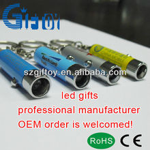 mini led flashlight led keychain with uv/black light as gift