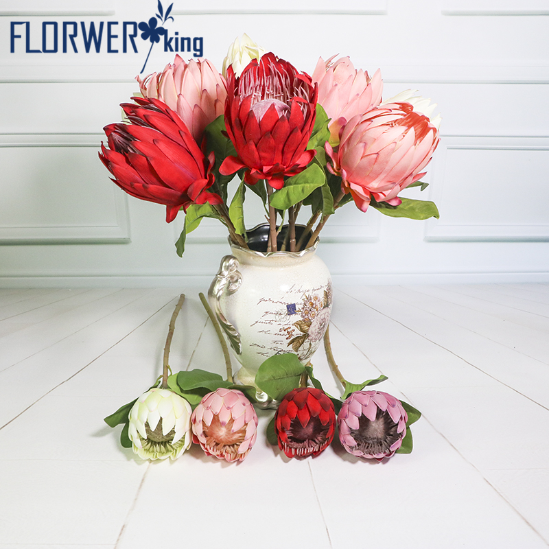Flowerking Brand factory direct wholesale King protea cynaroides artificial protea flower giant artificial flower