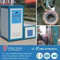 Big diameter gear and shaft induction heating heat treatment machinery metal hardening machine