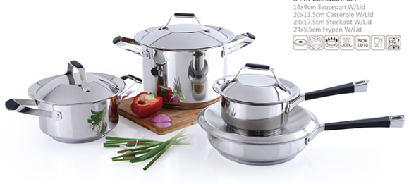 8 pcs stainless steel Cookware Set/kitchen ware induction base with bakelite handle