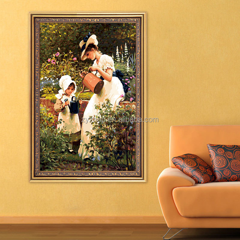 Big size wall decoration painting paint by number diy digital canvas oil painting
