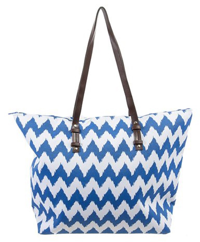 wholesale Canvas tote beach bag with blue colour