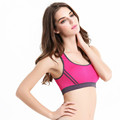 Ladies seamless fitness sexy sport yoga top bra