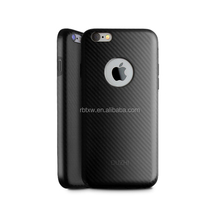 Wholesale Mobile Phone & Accessories Carbon Fiber Pattern Silicon Material Cell Phone Case Back Cover For iPhone 6