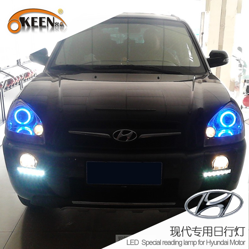 Waterproof 12V For Hyundai Tucson LED Daytime Running Light DRL Fog Lights Auto Spare Parts 2009-2014