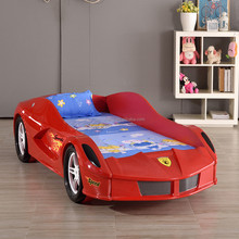 Hot Selling kids Plastic race car toddler bed / sports kids car bed for Children Furniture