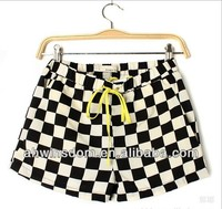 d43468a EUROPEAN NEWEST WOMAN'S GRID HOT SHORTS