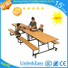 Hot sale palstic catering folding dining table and chairs set for school furniture