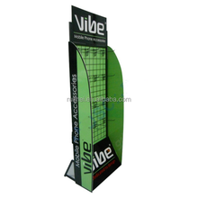 Free-standing Wire Mesh Cell Phone Accessory Display Stand