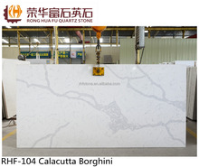 Calacutta Borghini polishing Quartz Stone Hotel / Restaurant Project