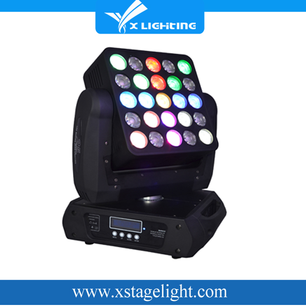 25*15W unlimited rotation used New Product led Matrix stage Light