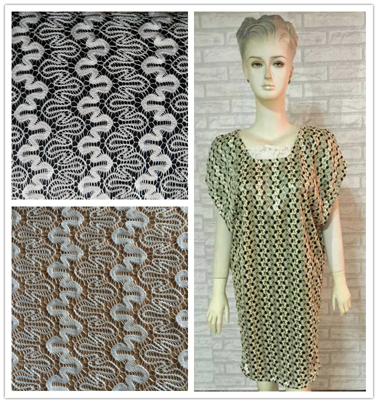 new design african lace fabric for casual/evening women dress with certificate