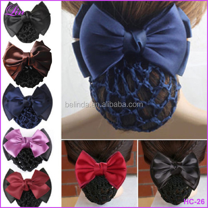 Hair clip Lady Hair Clip Cover Bowknot Bun Snood Women Hair
