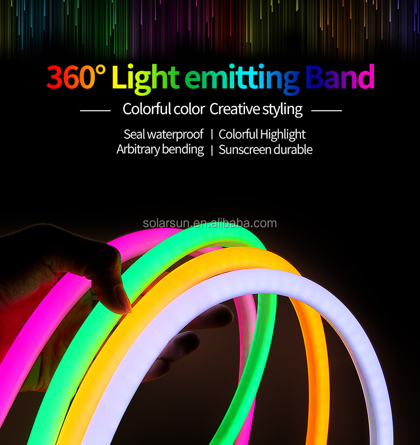 Economic and Reliable 360 deg rgb neon flex 24v Customized