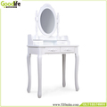 Modern wooden mirror Dressing Table with Stool furniture for make up
