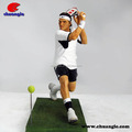 Custom sport man figurine/resin human figurine for home decor, gift item factory