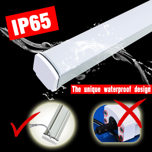 Top quality updated fluorescent waterproof led tri-proof light 60w