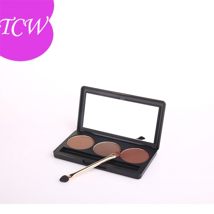 Trio modeling eyebrow powder with eyebrow cream palette with mirror