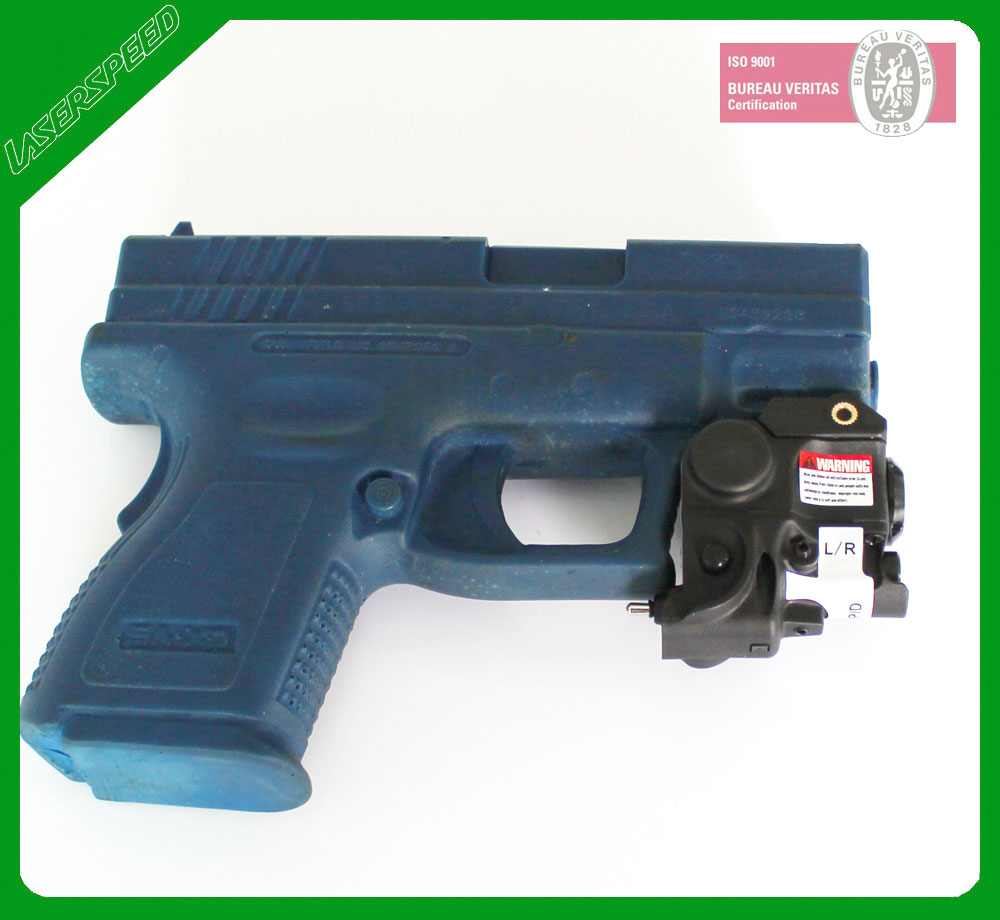 Small size and lightweight LED flashlight green laser for pistols or long guns