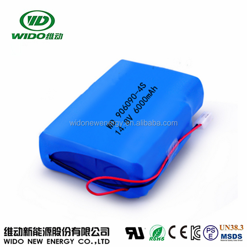14.8v 6000mah lipo battery pack li-ion battery pack