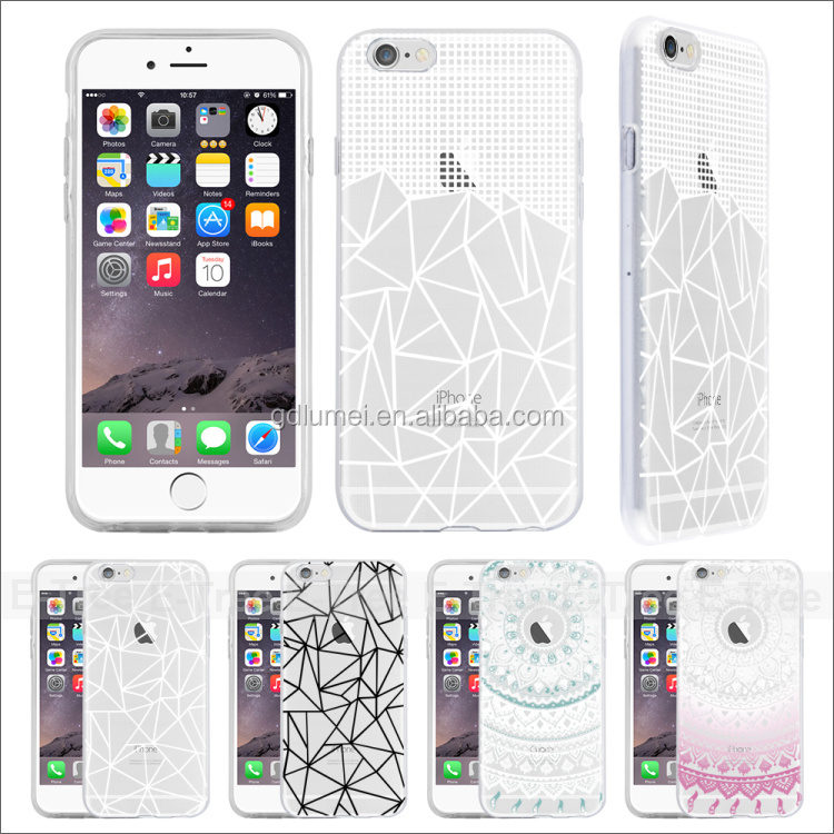 Soft tpu clear elegant factory price back case for iphone 6, custom mobile phone case for i phone 6